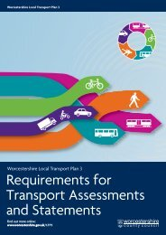 Worcestershire Requirements for Transport Assessments and ...