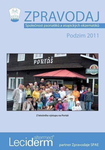 Zpravodaj SPAE Podzim 2011 - Česká Akademie dermatovenerologie