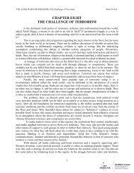 chapter eight the challenge of terrorism - GLORIA Center