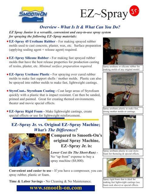 Spraying EZ~Spray Silicone Rubber - Smooth-On, Inc