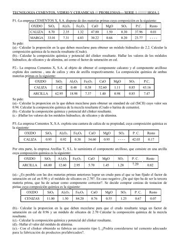 TECNOLOGIA CEMENTOS, VIDRIO Y CERAMICAS ...