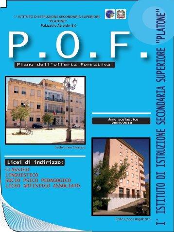 copertina pof - Liceo Platone