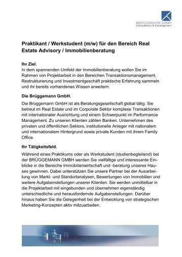 Praktikant / Werkstudent (m/w) - Dr. BRÜGGEMANN GMBH
