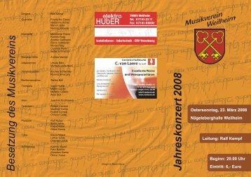 Jahreskonzert 2008 - Musikverein Weilheim