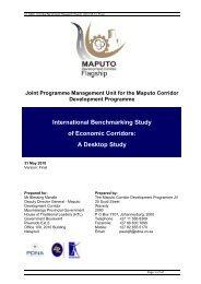 International Benchmarking Study of Economic Corridors - MCLI