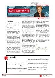 Bericht aus Berlin April 2010 - Karin Evers-Meyer MdB