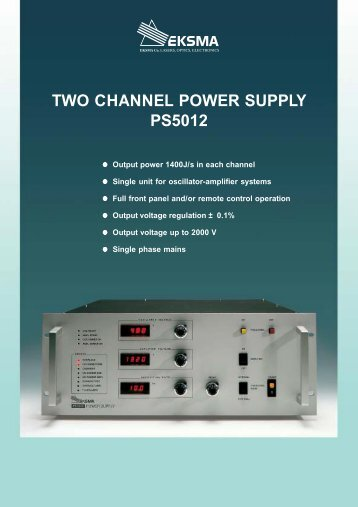 TWO CHANNEL POWER SUPPLY PS5012