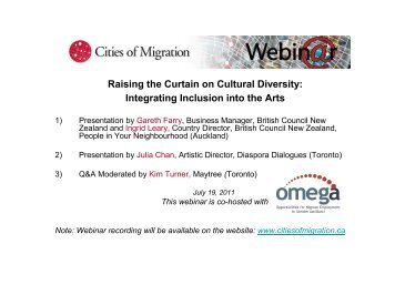 presentation slides - Cities of Migration