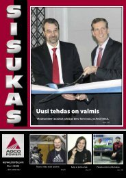 Sisukas - henkilöstölehti N:o 1/2013 - AGCO Power