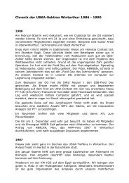 Chronik der USKA-Sektion Winterthur 1986 - 1990 - HB9W