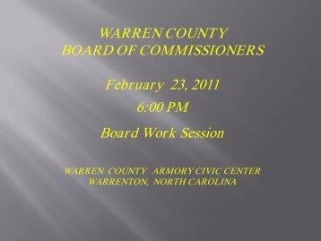 February 23, 2011 - Warren County