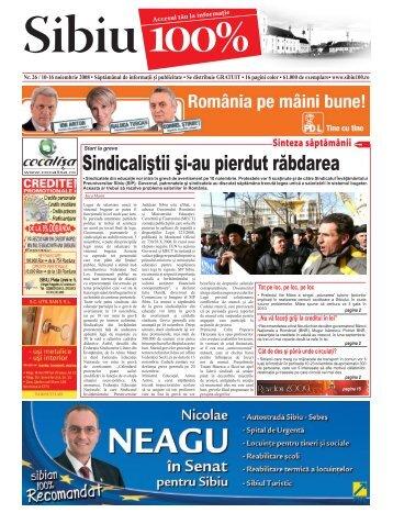 Sindicaliştii şi-au pierdut răbdarea - Sibiu 100
