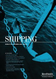 Shipping newSletter - Reed Smith