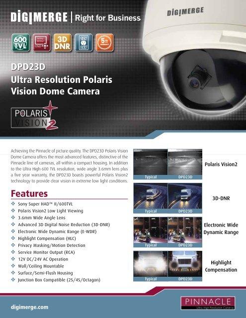 DPD23D Spec Sheet - Lorex