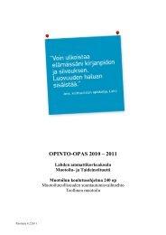 Opinto-opas 2010-2011, Muotoilu - Lahden ammattikorkeakoulu