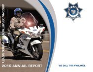 2010 DPS Annual Report - Arizona Department of Public Safety