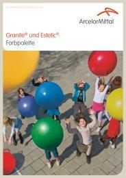 Granite® und Estetic® Farbpalette - Flat Carbon Europe - ArcelorMittal