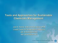 Tools and Approaches for Sustainable Chemicals Management