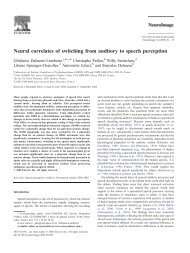 Neural correlates of switching from auditory to speech perception