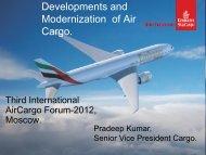 Developments and Modernization of Air Cargo.