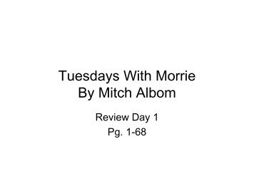 Tuesdays with morrie study questions