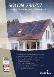 SOLON 230/07 - AS Solar GmbH