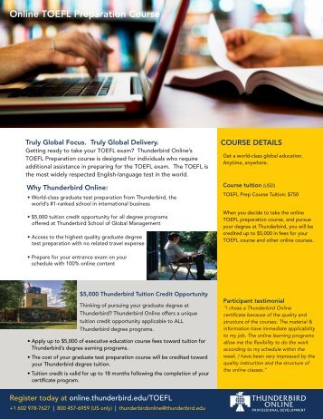 Online TOEFL Preparation Course - TAGIUNI