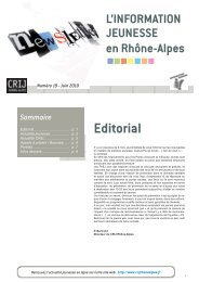 Newsletter 19.indd - centre ressources information jeunesse rhone ...