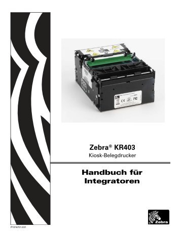 Zebra® KR403 Handbuch für Integratoren