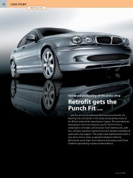 Jaguar retrofit gets the punch fit - Siemens Industry, Inc.