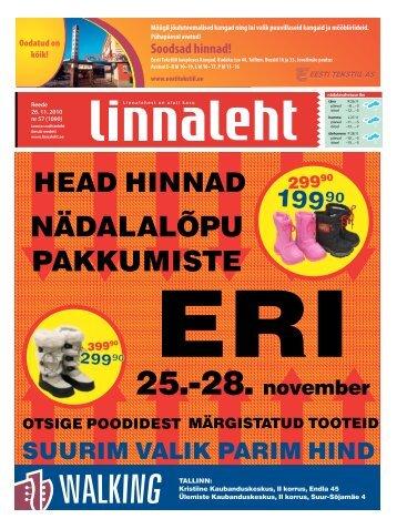 NÄDALALÕPU PAKKUMISTE - Linnaleht