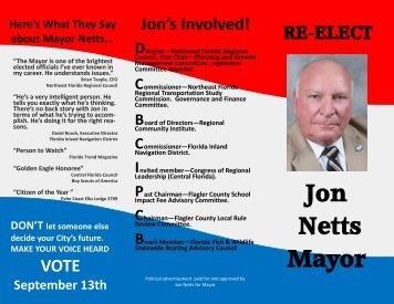Jon Netts Mayor - FlaglerLive