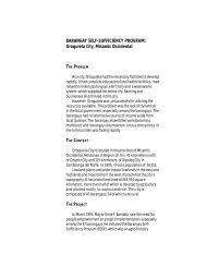 BARANGAY SELF-SUFFICIENCY PROGRAM ... - galing pook
