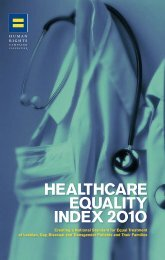 Healthcare Equality Index 2010 - Human Rights Campaign