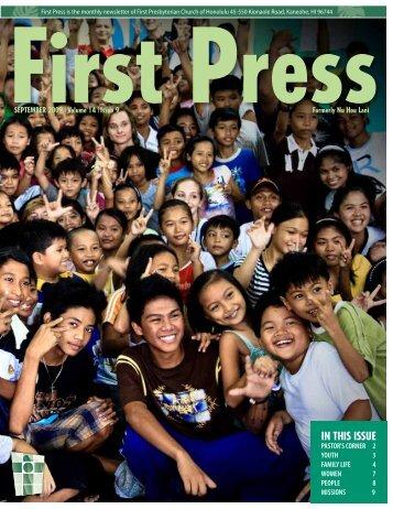 September 2009 - First Presbyterian Church of Honolulu