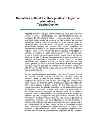 Da política cultural à cultura política: o lugar da arte pública Teixeira ...