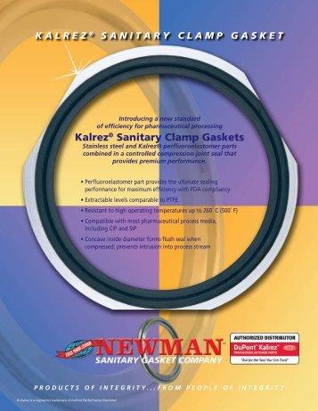 Kalrez® Sanitary Clamp Gaskets - Newman Sanitary Gasket Company