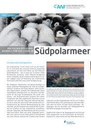 Die Folgen des Klimawandels für das Leben im Südpolarmeer