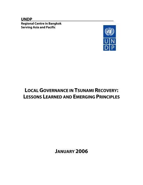 local governance in tsunami recovery - UNDP Asia-Pacific Regional ...