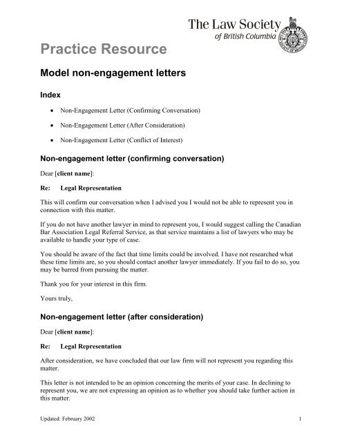 Engagement Letter Lawyer Template