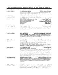 New Parent Orientation Schedule of Events - Scripps College