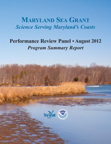 Program Summary Report - Maryland Sea Grant - University of ...