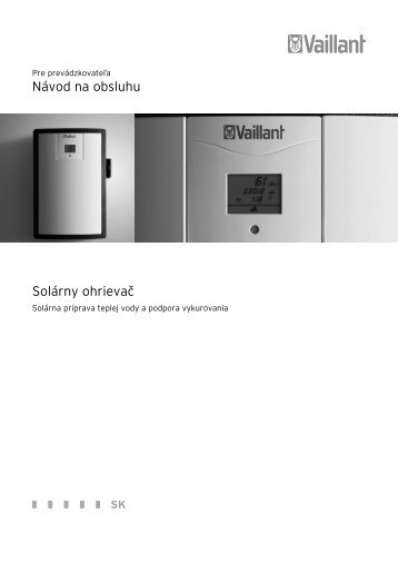 navod-na-obsluhu-vpm-s-solarny-modul - Vaillant