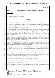 Anträge 105. Ord. LPT - FDP Baden-Württemberg