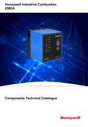 Honeywell Industrial Combustion Technical Catalogue
