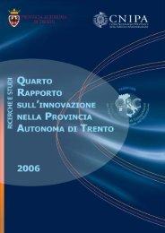 4° Rapporto sull'innovazione nella Provincia Autonoma di Trento