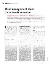 Wundmanagement eines Ulcus cruris venosum - Werner Sellmer