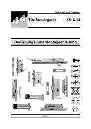 Bedienungs- und Montageanleitung Tür-Steuergerät 5516-14