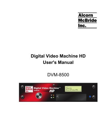 Alcorn DVM-8400 Video Player Driver Download