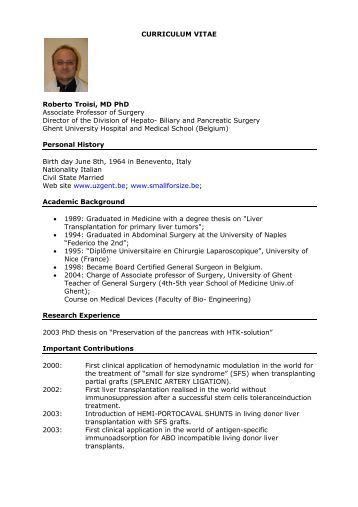 Resume mdphd
